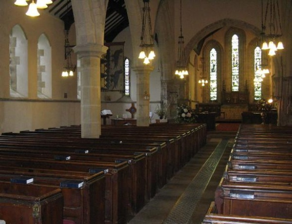 Interior of St Marys at Stamfordham