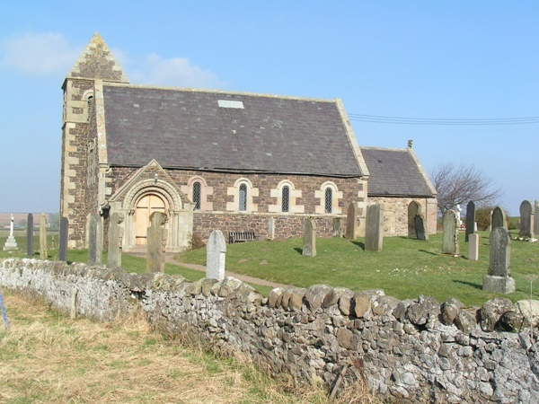 Church and Stone Wall