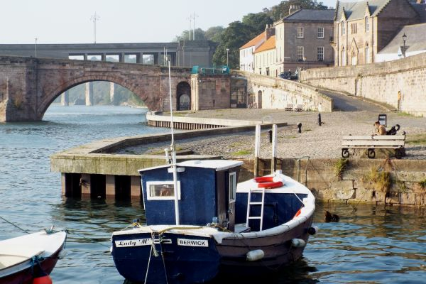 Berwick Harbour only 10 minutes walk away