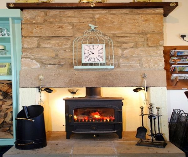 Wood Burning Stove in the Snug