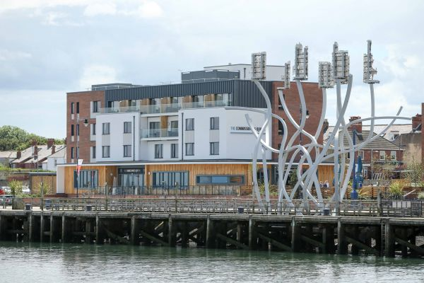 The Commissioners Quay Inn has a stunning waters edge location