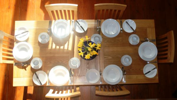 Your table awaits - full breakfast for all guests