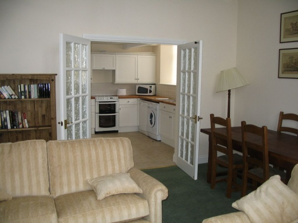 Sitting room and kitchen
