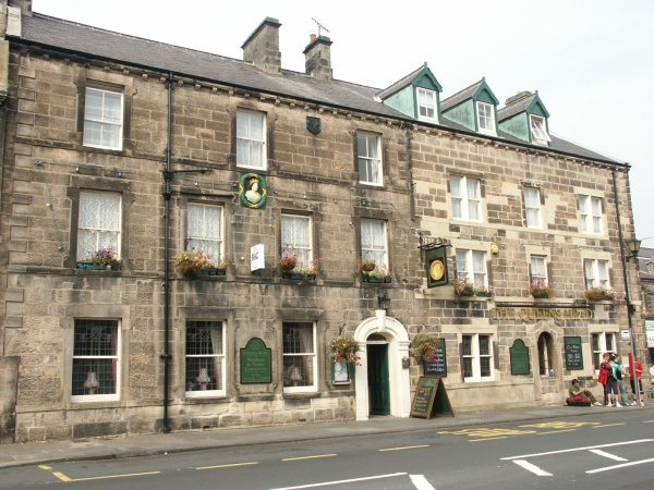 Outside The Queens Head Hotel restaurant in Rothbury