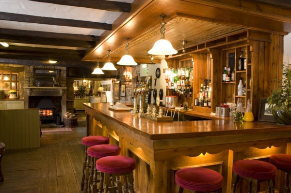 Bar at The Tankerville Arms in Eglingham