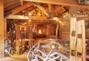 Treehouse interior is near Eshott Hall
