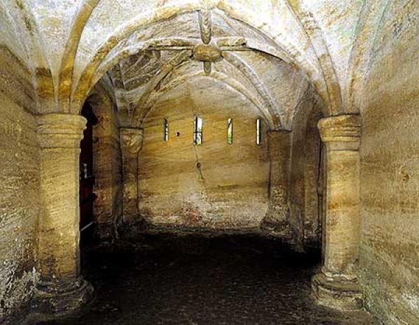 Inside Warkworth Hermitage