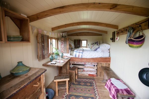 Shepherds Hut Interior