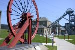 Wheel and entrance is near Woodhorn, Museum and Northumberland Archives