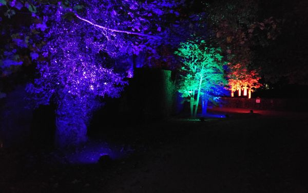 After dark at The Alnwick Garden