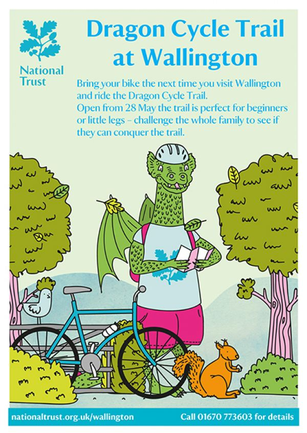 Dragon cycle trail at Wallington