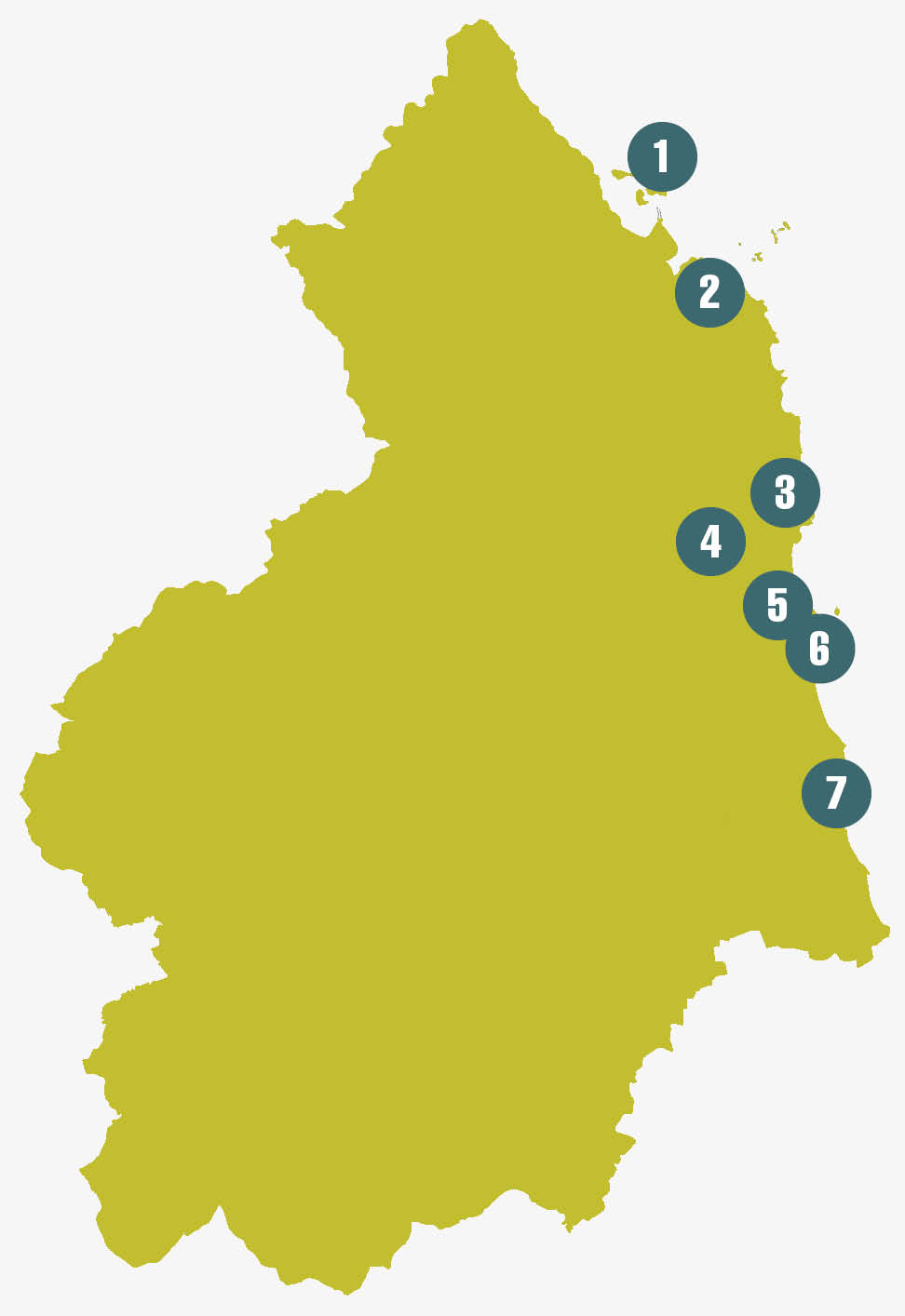 Northumberland Coast Map