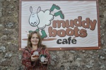 Father Christmas sprinkles festive magic over Breamish Valley with the opening of Muddy Boots Café, Ingram