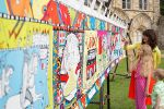 Kids' Tapestry visits Belsay Hall in Battle of Hastings 950th anniversary year