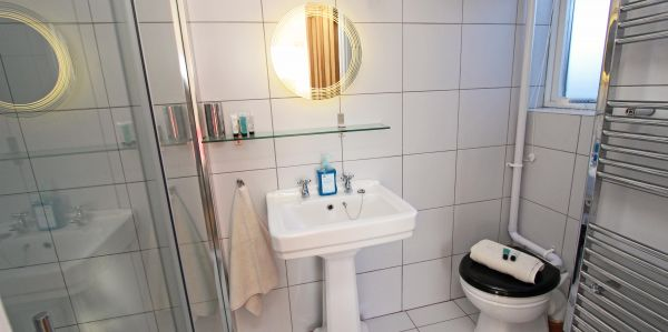 2 Bamburgh Gate, shower room with heated towel rail