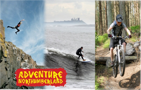 Adventure Northumberland collage