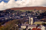 A view of Rothbury is near The Queens Head