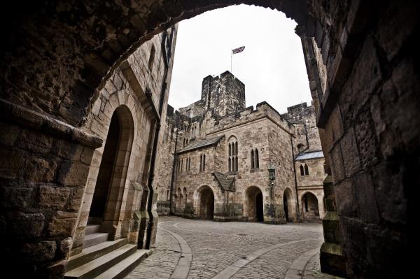 Alnwick Castle, Inner Courtyard