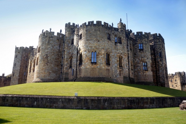 Alnwick Castle from the Gun Terrace