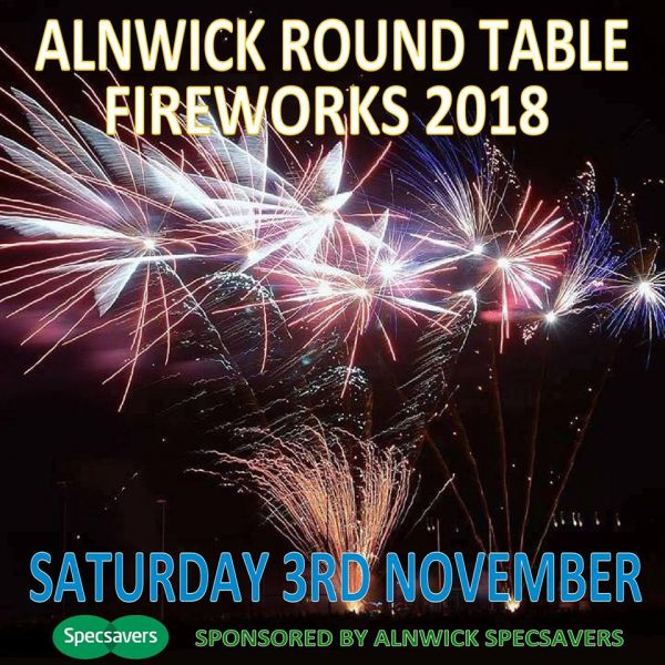 Alnwick Round Table Fireworks 2018