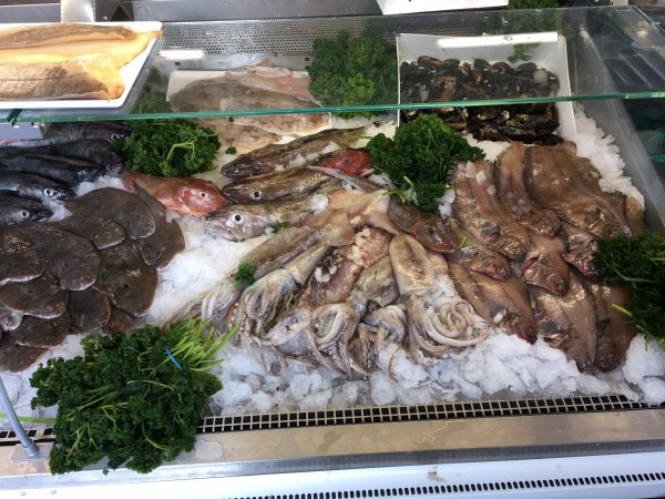 A range of delicious local seafood