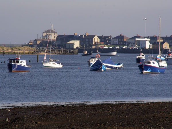 Amble harbour is near Hauxley Wildlife Discovery Centre