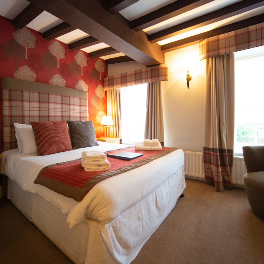 One our double rooms with views over Main Street