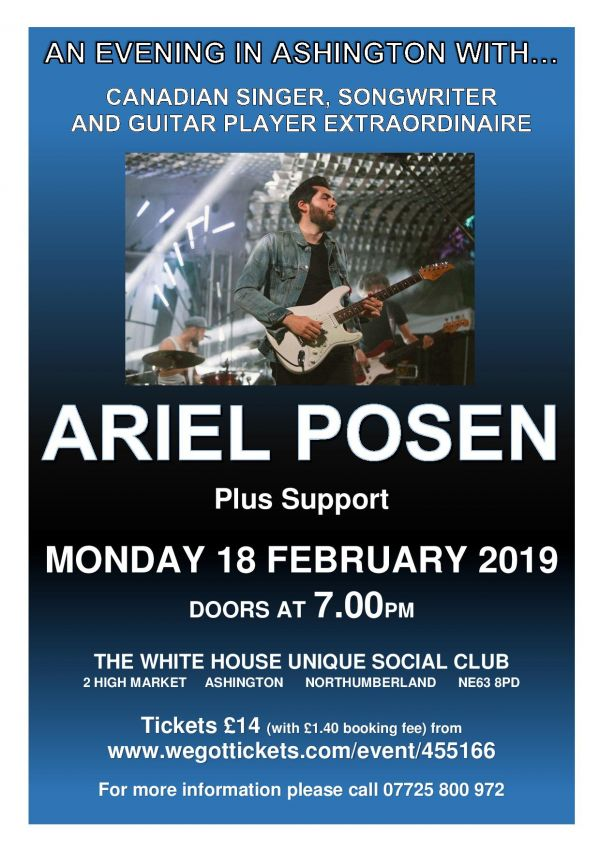 Ariel Posen at The Whitehouse in Ashington