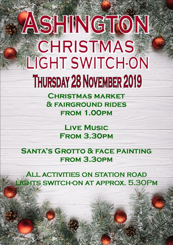 Ashington Christmas Light Switch-On