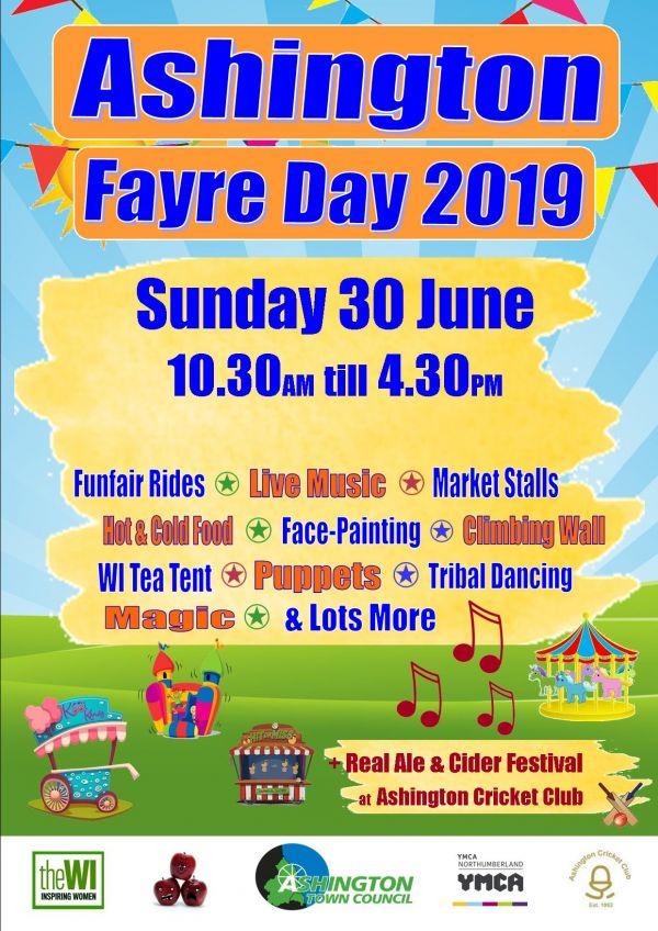 Ashington Fayre Day Poster