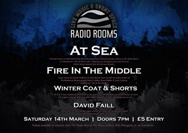 At Sea, Fire In The Middle, Winter Coat and Shorts and David Faill