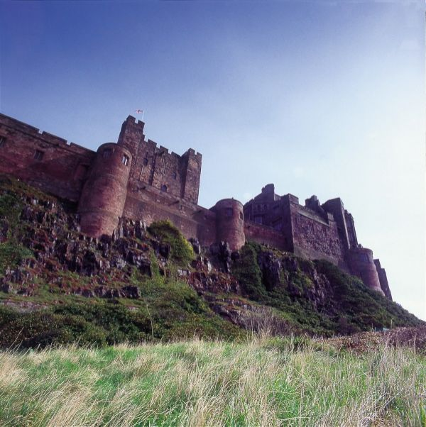 Bambugh Castle is near Outchester & Ross Farm Cottages