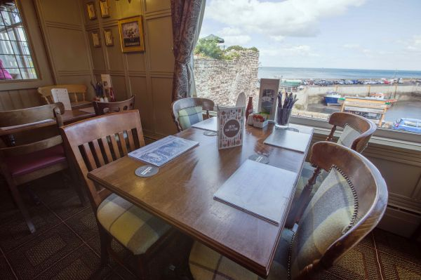 Dining at Bamburgh Castle Inn is near Harbourside Cottage