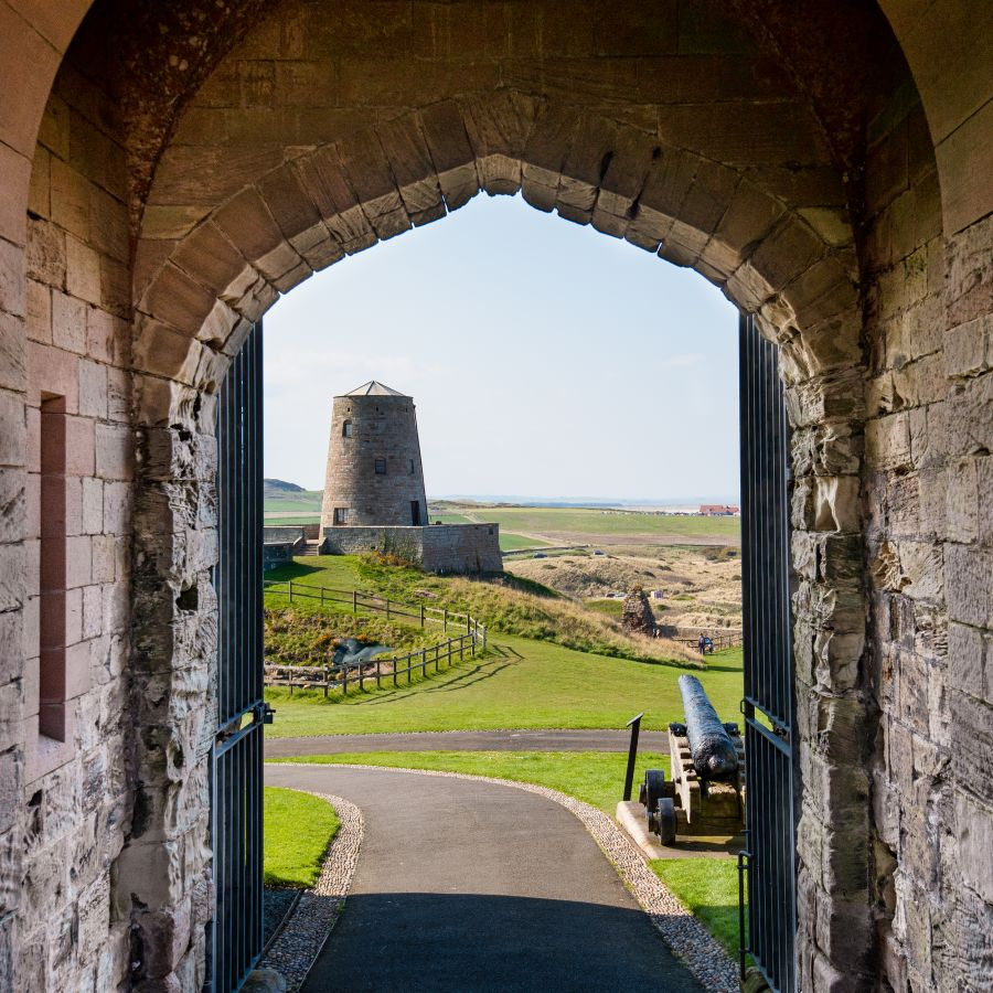 Lots of open space to enjoy at Bamburgh Castle