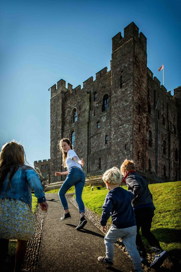 Family friendly Bamburgh Castle  is near Outchester & Ross Farm Cottages