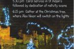 Bamburgh Christmas lights