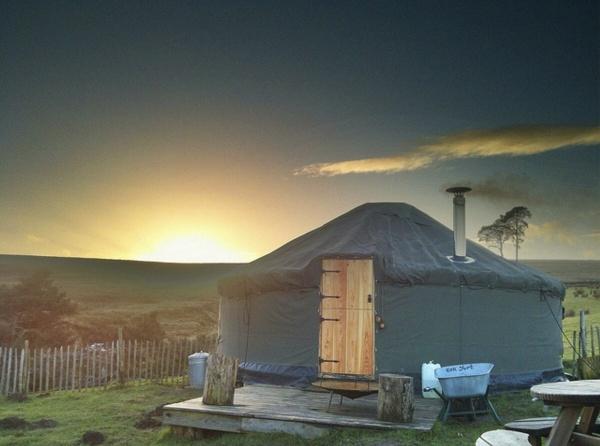 Esk Yurt at sunset