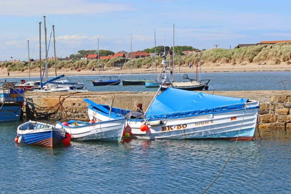 Beachy Point, Beadnell, Beadnell harbour boats