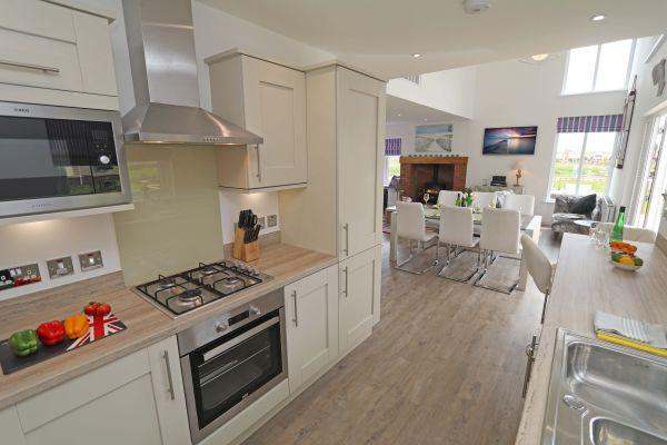 Beachy Point, Beadnell, kitchen area
