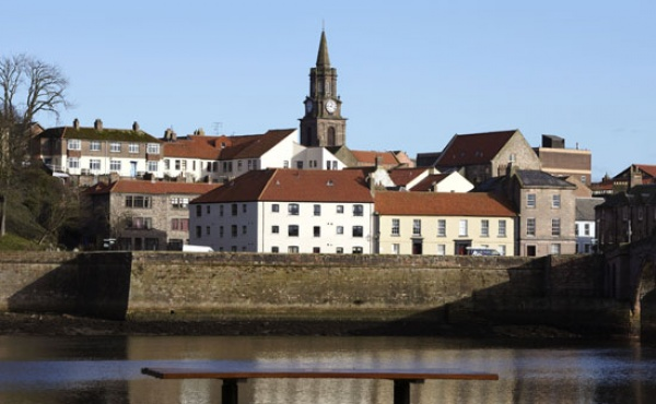 Berwick Market Day is near Tweed Cottage