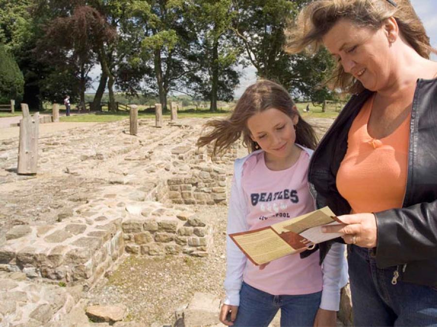 Family visit to Birdoswald