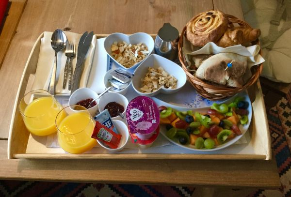 Breakfast delivered to your room