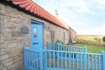 Blue Barn, Bamburgh, exterior is near St Peter's Church