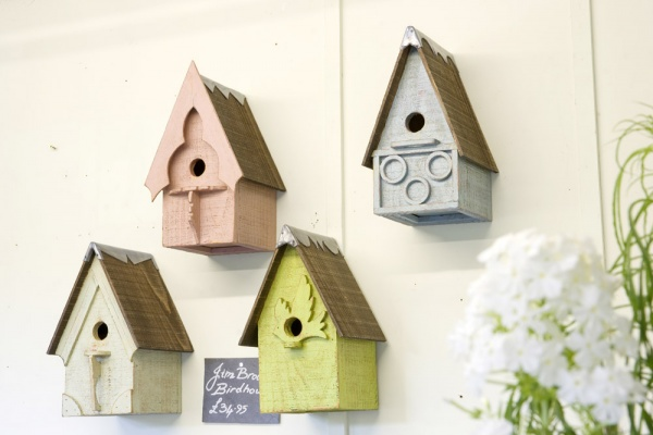 Handmade bird houses