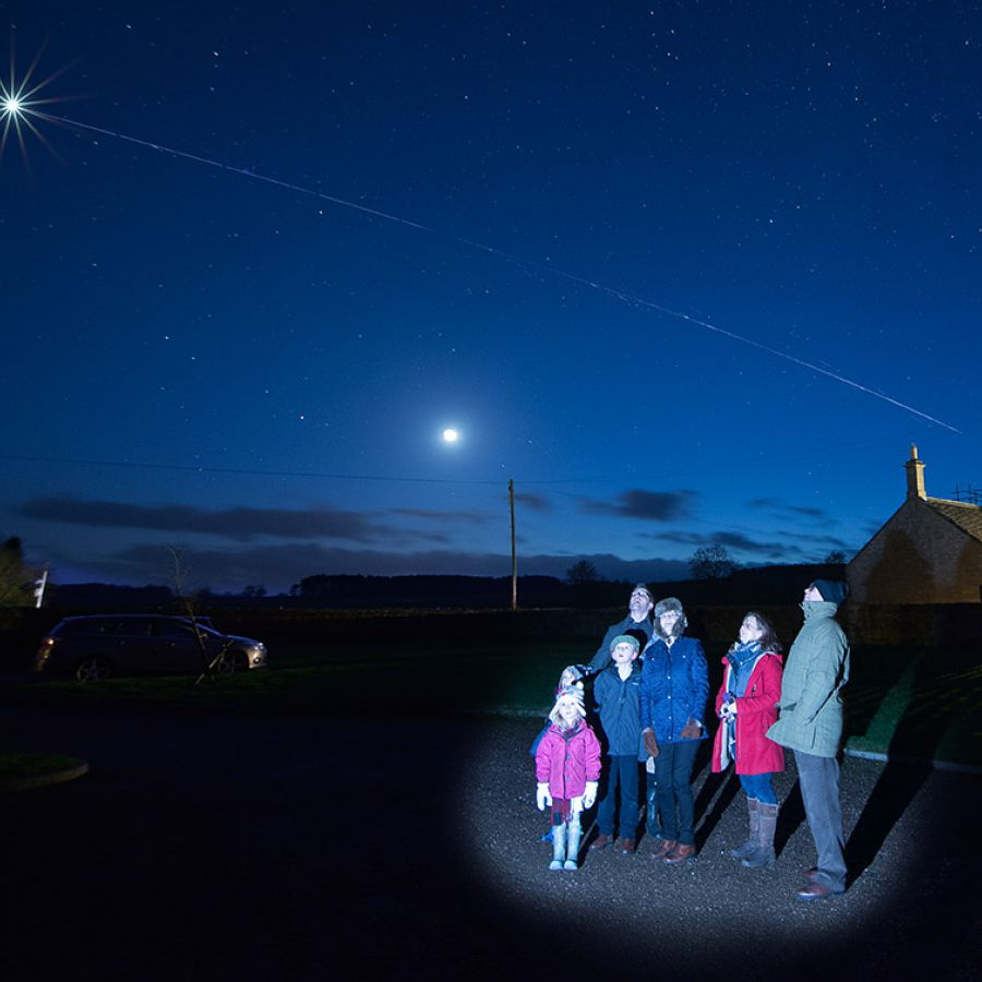 Stargazing evenings on site
