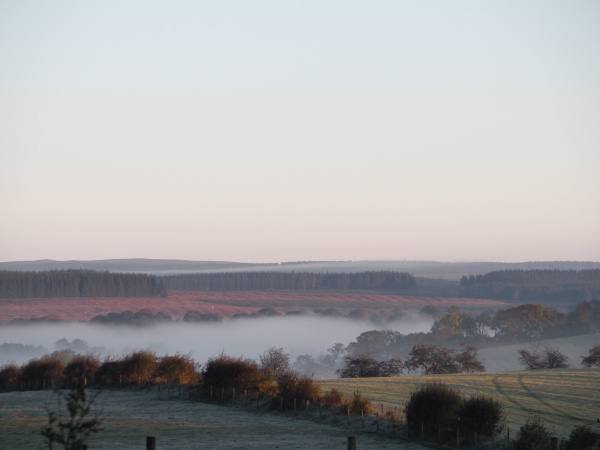A misty morning on the Irthing Valley