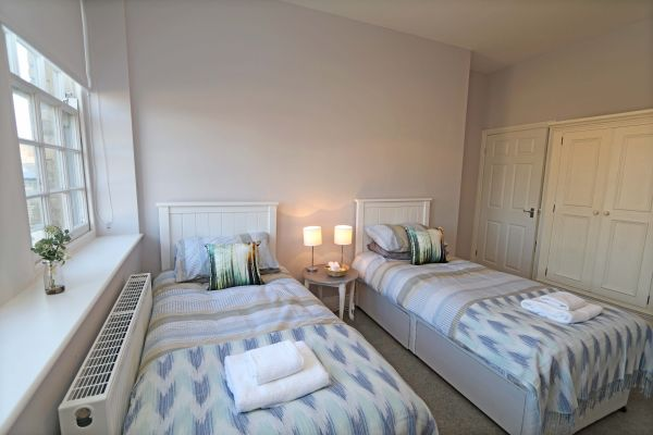 Charles Dickens House, Alnmouth- twin bedroom