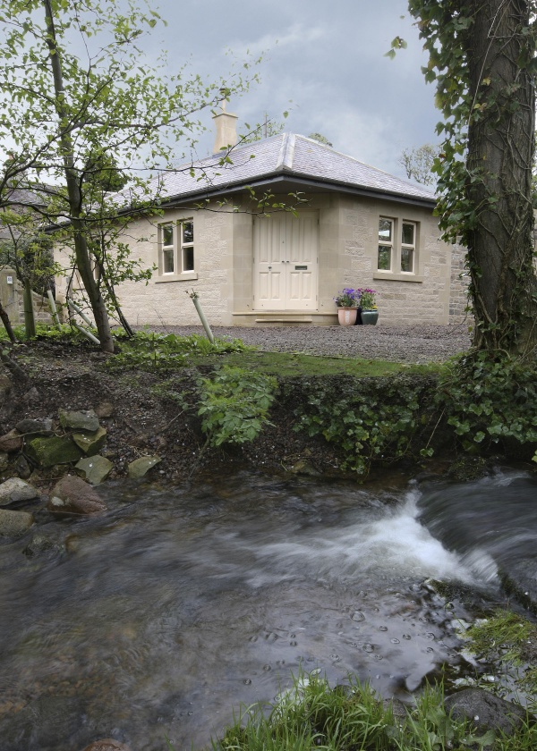 Gate Lodge overlooking the stream
