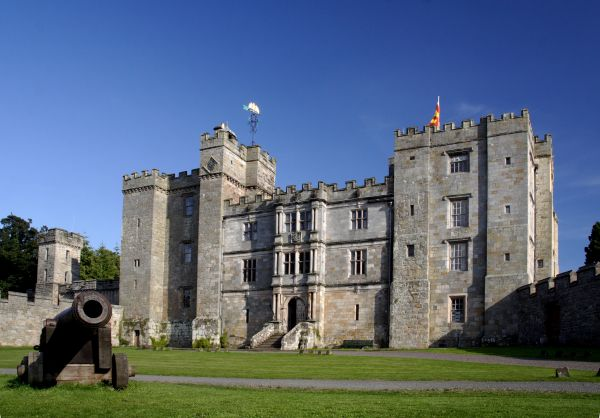 Front of Castle is near Chillingham Castle