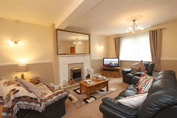Coble Cottage, cosy lounge